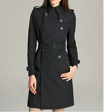 $1995 NEW Burberry London KENSINGTON US 10 Navy Blue Lace Trench Coat Jacket Tag
