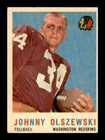 1959 Topps Football Set Break # 115 Johnny Olszewski VG-EX to EX *OBGcards*