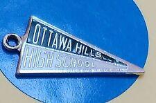 Flag Ottawa Hills High School Sterling Silver Vintage Bracelet Charm M100