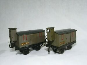 Hornby F Lot de 2 Wagons marchandises Fourgon NORD en O ancien
