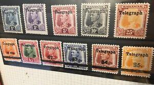 Sarawak Telegraph Stamps set NH