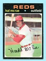 1971 Topps #177 Hal McRae -- Reds (EX-MT)    Lot # 702