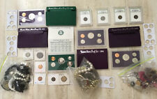 Junk Drawer (4) Lots Combined US Mints & Proofs Foreign World Coins,Jewelry,More