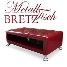 BRETZ Couchtisch rot Rosen SWEET BOY Tisch groß Metall Designertisch Rosenstoff