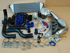 HONDA CIVIC 92-95 EG B16 B18 ALUMINUM BLOT-ON TURBO KIT+INTERCOOLER+PIPING BLACK