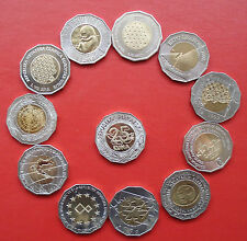 CROATIA  SET 25 KUNA COIN  - 11 DIFFERENT - aLL UNC - ALL issued