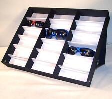 HORIZONTAL PORTABLE SUNGLASS COVERED 18 PAIR DISPLAY TRAY STANDUP sunglasses NEW