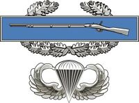 """CIB Combat Infantry Badge with Jump Wings 5.5"""" Sticker 'Officially Licensed'"""