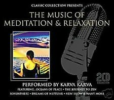 THE MUSIC OF MEDITATION & RELAXATION - NEW AGE - DOUBLE C.D