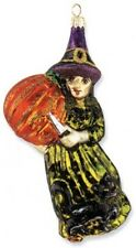 Slavic Treasures CARVING CRONE Witch Polish Glass Halloween Ornament