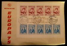 MONACO PREMIER JOUR FDC YVERT BF 10    MARIN ET ST DEVOTE      0,80+1,20F   1975