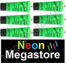 Stargazer 6 X Green UV Reactive Neon Body / Face Paint