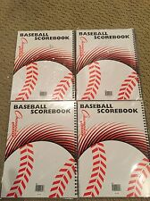 Baseball Scorebook Stats Record Keep Little League Champion Four Books