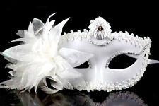 Flower Masquerade Ball Venetian Party Eye Mask Feather Carnival Fancy Dress Mask