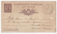 CARTOLINA POSTALE DA DIECI CENTESIMI NIZZA MONFERRATO 1879 11-259