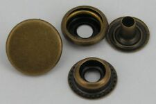 10 Druckknöpfe ! rostfrei !  15mm altmessing Ringfeder 10mm
