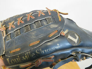 "Louisville Slugger The Softballer  L1350 13.5"" Black Leather Softball Glove LHT"