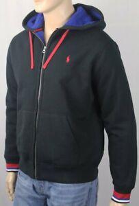 Polo Ralph Lauren Black Heavyweight Fleece Hoodie Full Zip Sweatshirt NWT $148