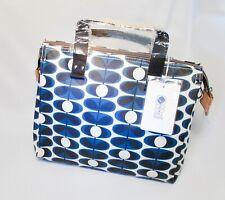 4a2d789b0617 Orla kiely Flower Oval Stem Small Zip Messenger Designer Bag (Indigo)