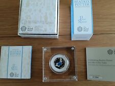 BEATRIX POTTER PETER RABBIT 50P COIN SILVER PROOF NUMBER 01298 BRAND NEW