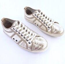 Plims L Original Softy By n.d.c. Gold Metallic Leather Sneakers Women's 8/EU 38