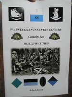 ROLL AUSTRALIAN CASUALTIES WW2 UNITS 9th 25th 61st Militia Milne Bay Bougainvil