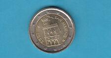 SAN MARINO 2 € EURO DEL 2007 FDC UNC DA SET DI ZECCA FIOR DI CONIO