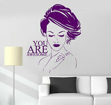 Wall Sticker Decor Vinyl Beauty Salon Quote Girl Room Stickers (ig4301)