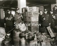 Detroit Police Prohibition Beer Whiskey Raid Strohs Beer Cases Beer Barrels LOOK