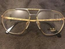 VENTURA Sunglasses NEW VINTAGE AVIATOR M. 7100 22 Karat Gold Plated 1980s Italy