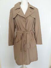 M&S Women Trench Coat Mac Tie Belt Military Beige Parchment UK 16 Plus Blogger