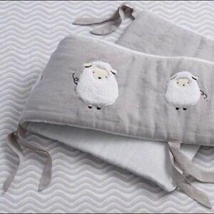 Brand New Lambs & Ivy 4 Piece Crib Bumper Good Night Sheep