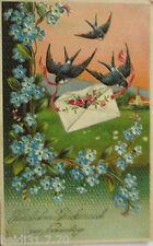 """Joffrey, Rondine, LETTERA"" 1911, serie S.B 815 stampa oro ♥ (1131)"