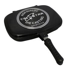 Supreme Die-Cast Double Grill Pan Double Sided Frying Pan Griddle Flipping 36cm