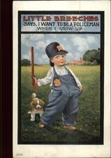 Harmony Little Breeches Police Officer Cop c1910 Postcard
