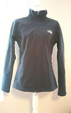 North Face Women Black Jacket Front and Back North Face Logo Size Large