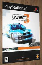 WRC 3 FIA World Rally Championship very rare Promo Poster 84x59.5cm PS2 PS 2