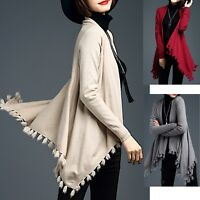 Poncho Maglia Asimmetrica Donna Woman Asymmetric Open Sweater WOL004 P