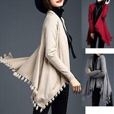 Poncho Maglia Asimmetrica Donna Woman Asymmetric Open Sweater WOL004 P