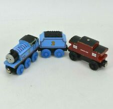Thomas the Train Wooden Railway Engine Coal  Sodor Line Caboose Wood Magnetic