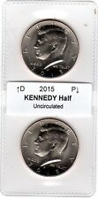 2015 Kennedy Half Dollar, 2-coin set (P and D) Uncirculated