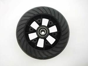 "Go-Ped Brand 6"" Hard Tire & Wheel Assembly W/ Standoffs"