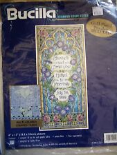 Bucilla Tiffany Wedding # 42465 Kit Stamped Cross Stitch NEW Sandy Orton