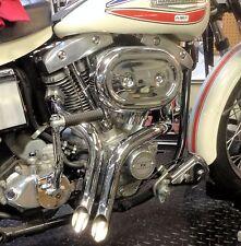 "Loud As F*K 1 3/4"" LAF L.A.F Chrome Y Drag Pipes Exhaust 71-84 Harley Shovelhead"