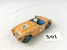 VINTAGE DINKY TOYS #109 AUSTIN HEALEY SPORTS CAR ORIGINAL DIECAST YELLOW 1955-59