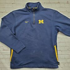 Vintage MICHIGAN WOLVERINES Nike PULLOVER Sweater Shirt 1/4 Zip Mens Medium