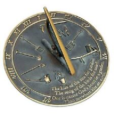 "Kiss Of The Sun Verdigris Brass 9.875"" Sundial by Rome Industries"