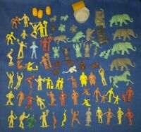 vtg 75+ Piece Lot MARX SUPER CIRCUS Figures Animals Some HTF USED Shipping INCLD