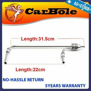 Carburetor Dual Feed Fuel Line For HOLLEY 4150 Double Pumper Fits 3/8 Hose Inlet