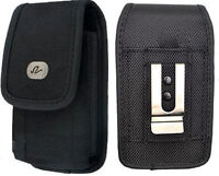Vertical Rugged Canvas Case for Cell Phones fits with Otterbox Defender on it